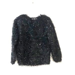 Sequins & eyelash sweater